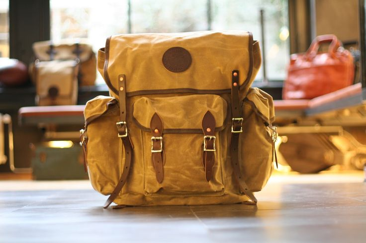 Duluth Pack: Wanderer in wax canvas.