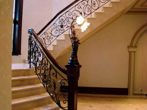 Superior This Exquisite Wrought Iron Balustrade And Staircase Has Been Finished To  Blend In With The Surrounding Decor, The Design Of This Wrought Iron  Balustrade ...