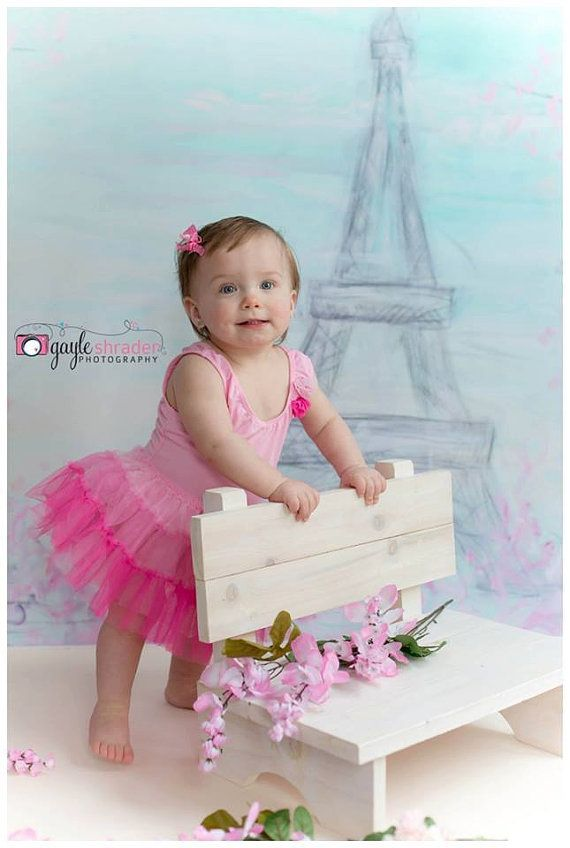 White Rustic park style bench chair stool photo prop for newborn baby , toddler or child on Etsy, $40.00
