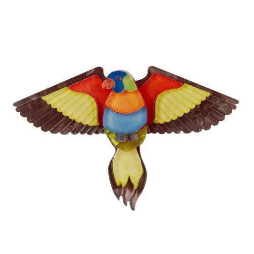 Erstwilder - Rainbow Lorie Brooch - 1