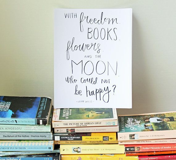 Oscar Wilde quote print, the perfect literary gift for book lovers!