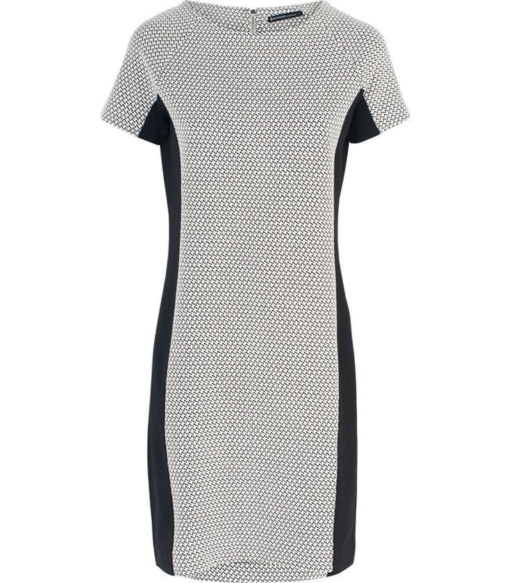 grijs gestreepte jurk