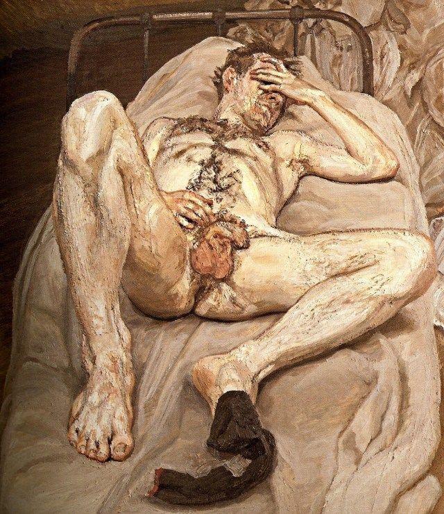 A nudez na obra de Lucien Freud repele a idealização e abraça a ideia da mortalidade.  Lucian Freud morreu em 20 de julho de 2011, aos 89 anos, e dedicou sua longa carreira à pintura de figuras humanas e retratos da vida, ignorando todas as tendências do mundo da arte de sua época.