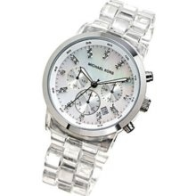 Michael Kors clear watch.  Check!