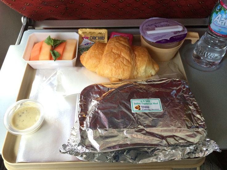 インド仕様のタイ国際航空(TG)の機内食