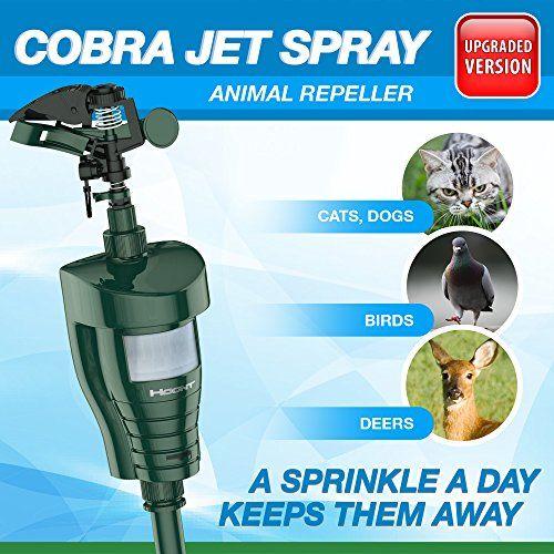 "The #Hoont™ Cobra Water Jet Blaster Animal Repeller - Motion Activated The Hoont™ Cobra Water Jet Blaster animal deterrent drives away unwanted ""visitors"" to yo..."