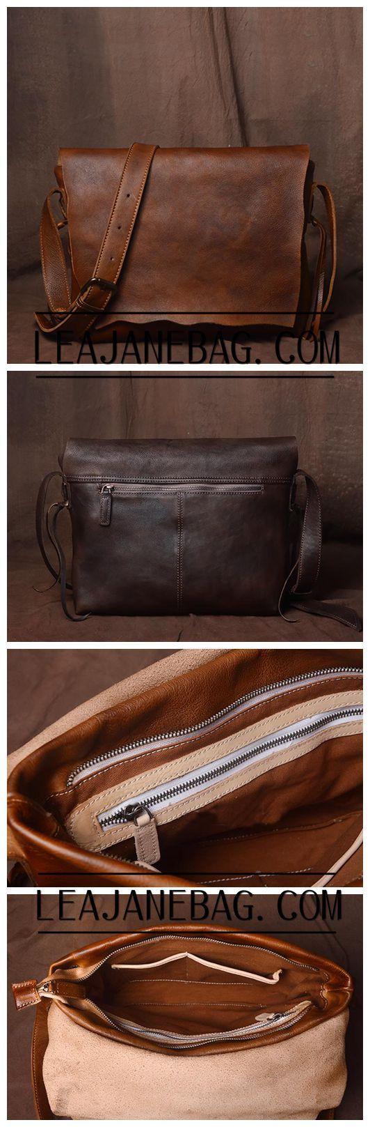 Handmade Leather Handbag Satchel Tan Portfolio Messenger Real Leather Saddle Bag Tablet JZ003