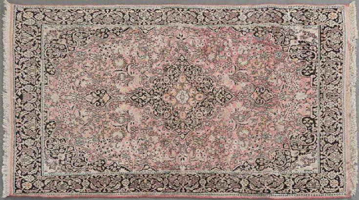 Kashmir Art Silk Carpet, 4′ 3 x 6′ 8