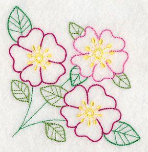 Bright Prairie Rose Corner (Vintage)