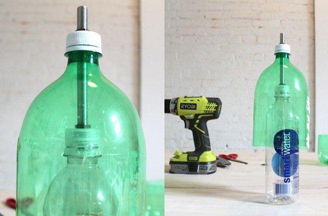 Old Plastic Soda Bottle + Concrete Mix = Sweet DIY Hanging Pendant Lamp « Interior Design