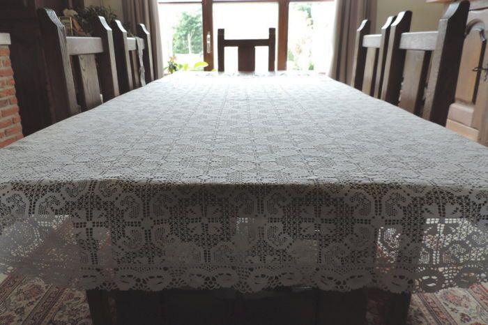 Nu in de #Catawiki veilingen: Kanten tafelkleed van-zeer fijne katoen, begin 20e eeuw