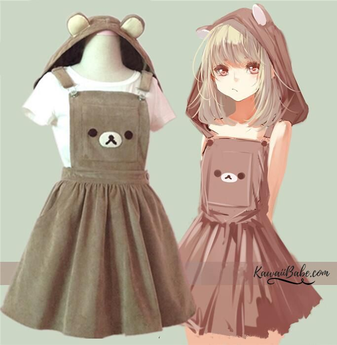 Rilakkuma Bear San-X Romper Dress! Little SPace / Age Regression Outfit! 100% FREE Shipping Worldwide! Tons more Kawaii, Lolita, Harajuku, Fairy-Kei, Larme, Pastel-Goth, Cosplay, Magical Girl, and Japan Fashion Goodies at www.KawaiiBabe.com
