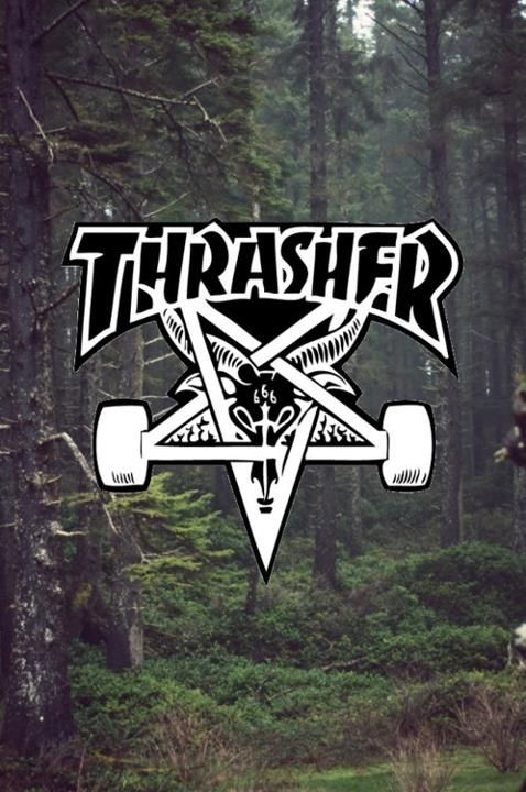 Thrasher found on via - Hd supreme iphone wallpaper ...
