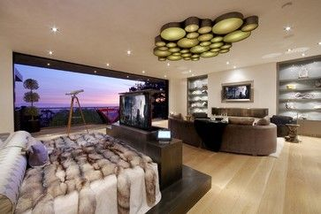 Beverly Hills media room - modern - bedroom - los angeles - DSI Entertainment Systems