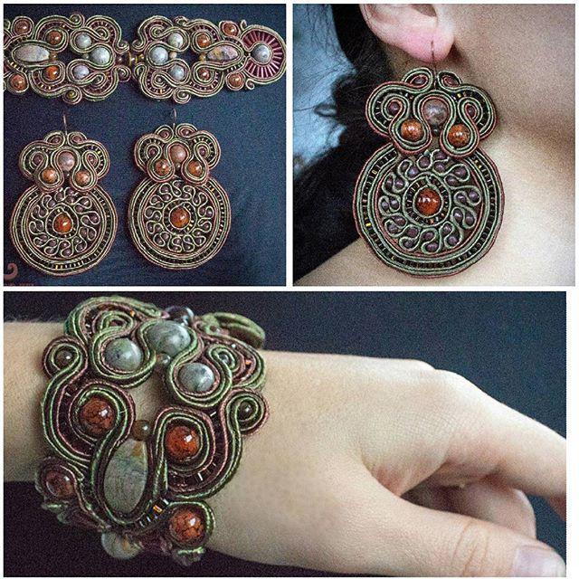 #шенталь #сутаж #ручнаяработа #shentall #jevelry #vkpost #handmade #art #beautifull #nice #gorgeous #unique #hand_md #exk_art