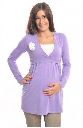 """Tunică """"Decor"""" 2 în 1: pentru gravide şi alăptare"""