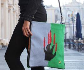 Borsa Crazy Bag AZZURRA/VERDE