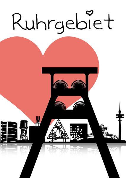 POTTkarte 'I heart Ruhrgebiet'
