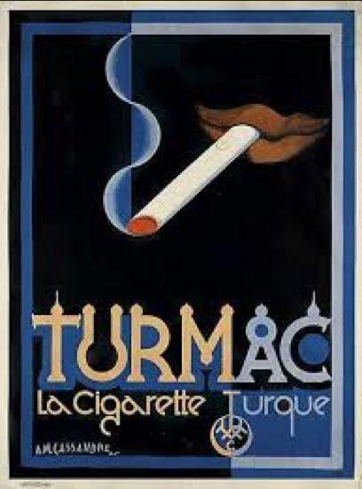 By Adolphe Mouron Cassandre (1901-1968), 1925, Turmac La cigarette Turque, Hachard & Cie., Paris.