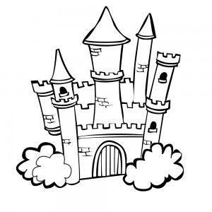 castle colouring pages princess castle - Colour In Book