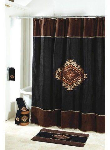 Avanti Mojave Shower Curtain Black - Avanti®️️ | #homedecor #southwest #decor #bathroom #afflink
