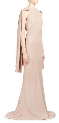 Alexander McQueen Scarf-Detail Halterneck Gown