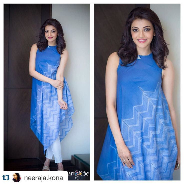 "kajalaggarwalofficial: ""#Repost @neeraja.kona with @repostapp.  Simple and clean! Love the @anitadongregrassroot separates on @kajalaggarwalofficial ... #SardaarGabbarSingh promotions @ashgudala @rangdephotography """