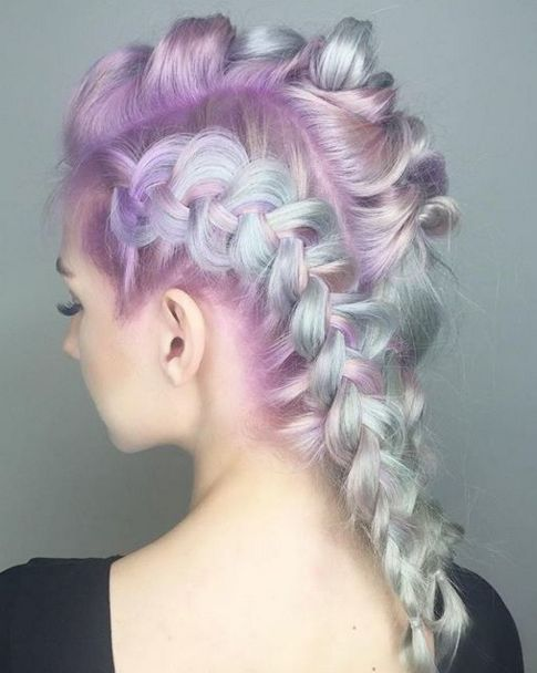 Pastel Unicorn Braids #hairspo