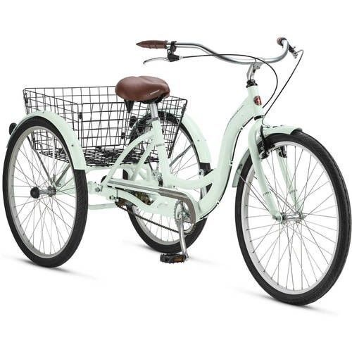 Tricycle 3 Wheeler Beach Cruiser Retro Commuter Storage Basket 26 Mint Schwinn