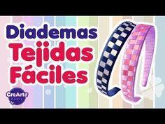 Como tejer diademas en cinta, trenzado fácil para decorar diademas o tiaras. - YouTube