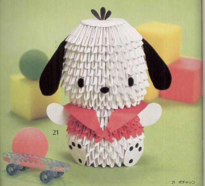 вопрос, картинки модульное оригами собачки также