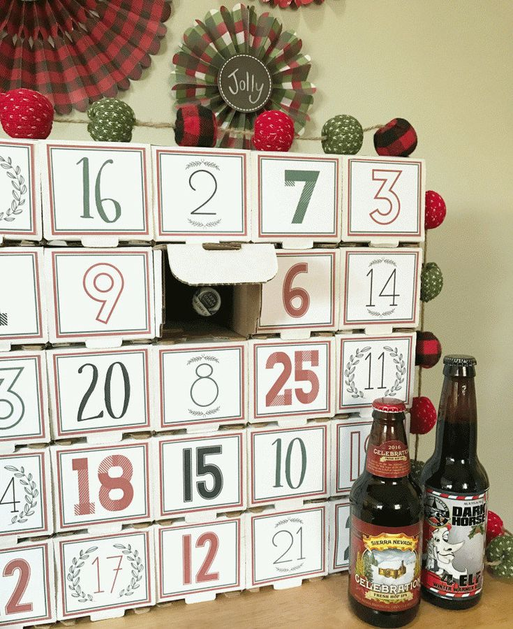 die besten 25 bier adventskalender ideen auf pinterest geschenke verpacken m nner geburtstag. Black Bedroom Furniture Sets. Home Design Ideas