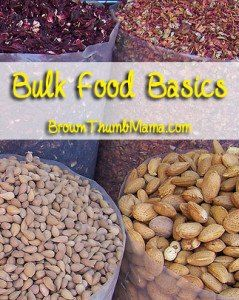 Bulk food basics: what to buy, what NOT to buy, and how to store it