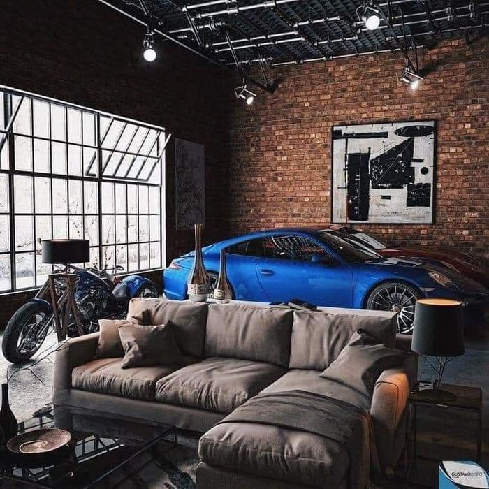 Looking For More Ideas Pictures And Official Name Of Studio Apartments That Have A Garage Within The Living Room And A Car Inside Nice Aesthetic Plan On Livin In 2021 Loft Design