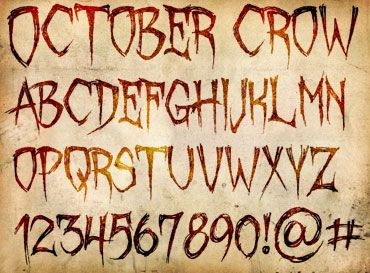halloween style font on word