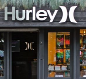 Hurley is next to QuickSilver, both are just across the street, 3 minute walk from Ayatana.