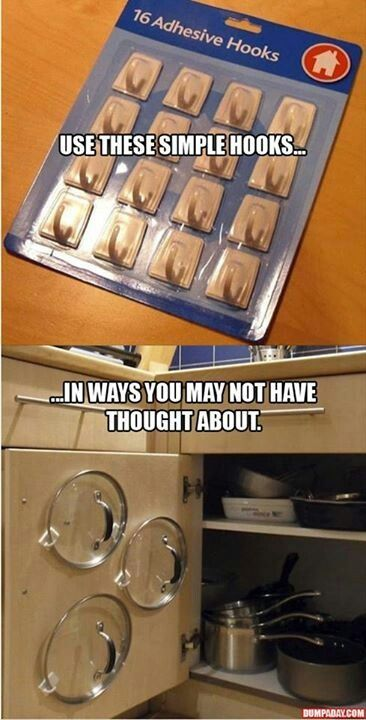 27 Awesome Life Hacks. This is great, would work for my limited space.
