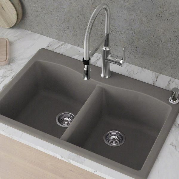 Forteza 33 X 22 Double Basin Drop In Kitchen Sink Drop In