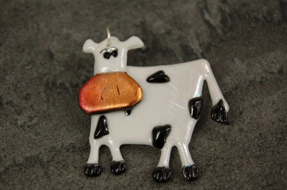 Holstein cow Pin farm fun wiggly black white pin swinging on Etsy, $10.00
