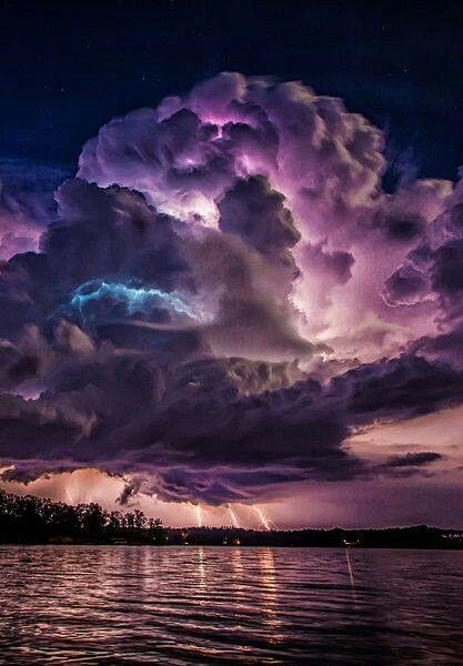 Beautiful storm and lightning