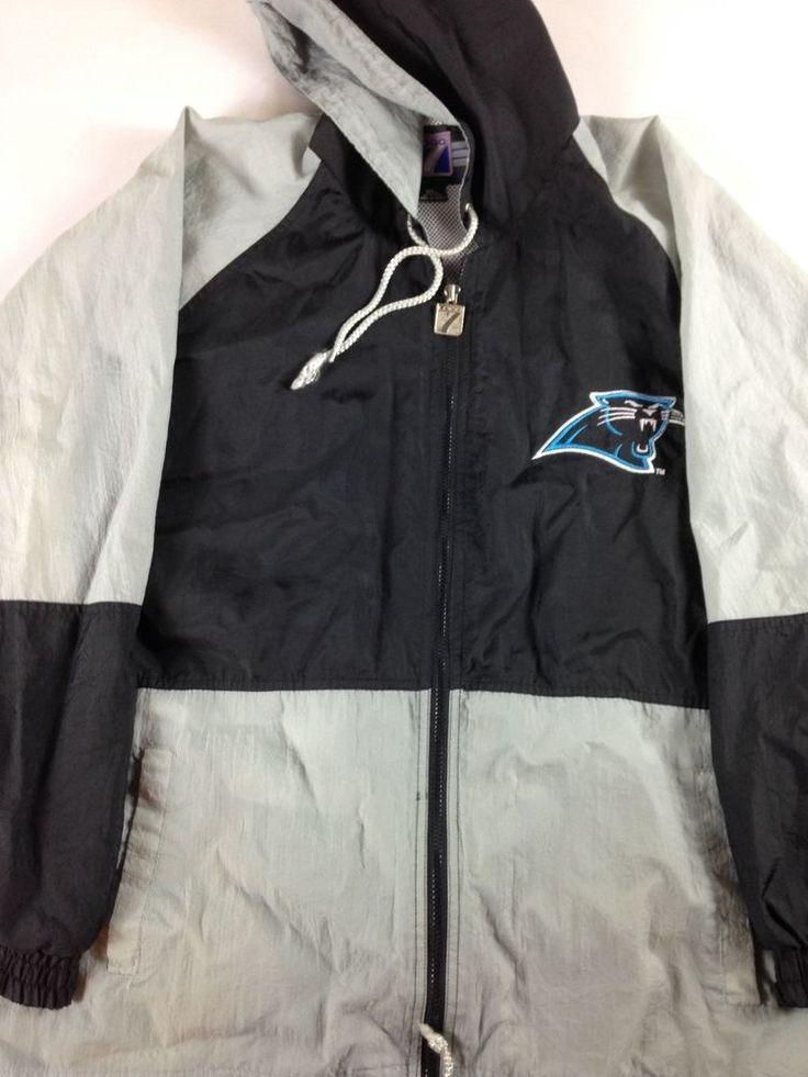 Carolina Panthers Windbreaker Jacket 90s Mens XL/2XL Logo 7 NFL Football http://www.ebay.com/itm/-/262895033261?roken=cUgayN&soutkn=deZWRM #vintage #tbt #gopanthers #camnewton #draft