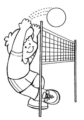coloring pages volleyball free coloring pages