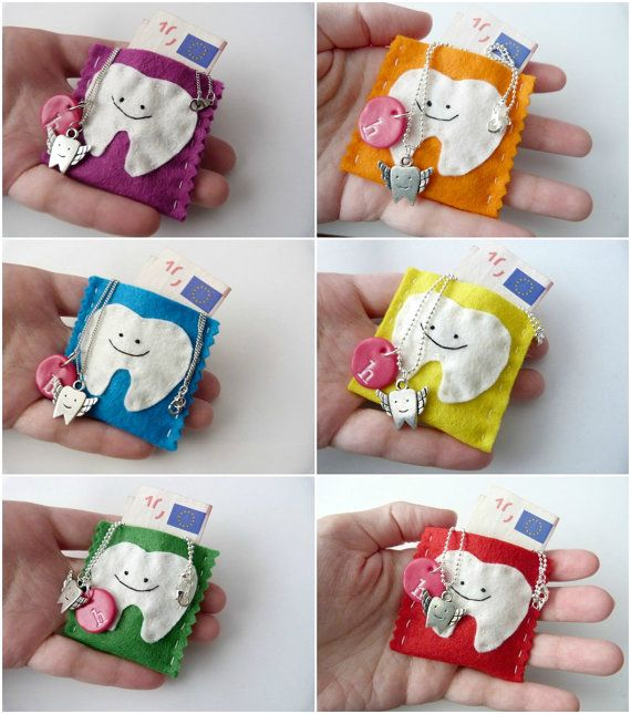 Tooth Fairy Bags in Bulk - Set of 12 - For Dentist Offices, Kids Party Favours - Children Gift Tooth Fairy Pocket Pouch