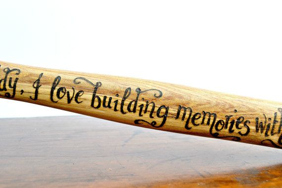 Personalised Hammer Hand Engraved gift for him by CoveCalligraphy
