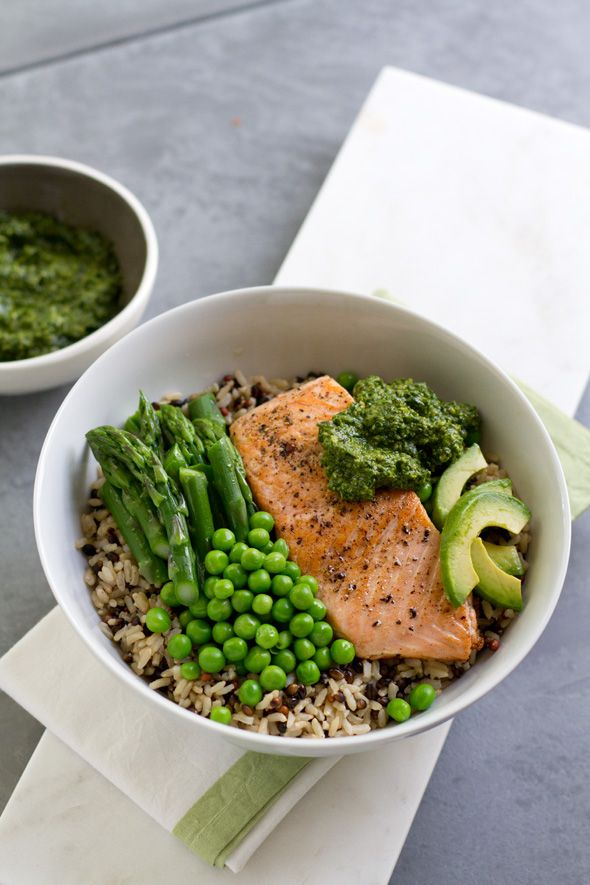 Seared Salmon and Cilantro-Cashew Whole Grain Bowl ...