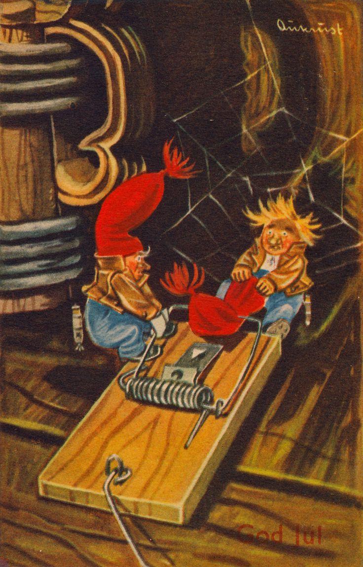 Vintage postcard Kjell Aukrust