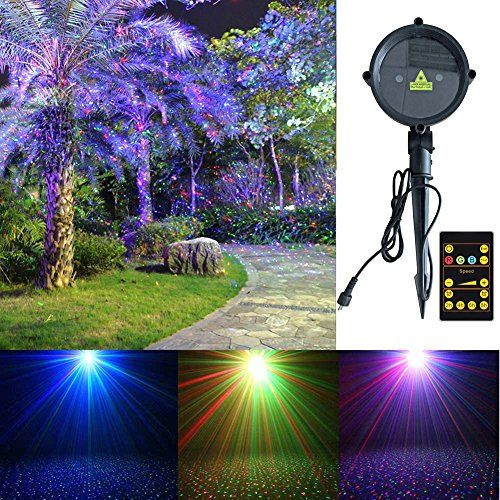 Laser Lights,Tepoinn Outdoor Star Projector Waterproof RGB