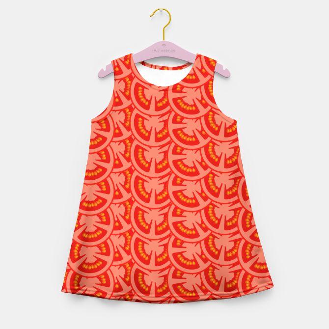 Tomato Pattern Girl's Summer Dress