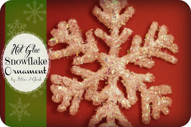 PitterAndGlink: {Hot Glue Snowflake Ornament}