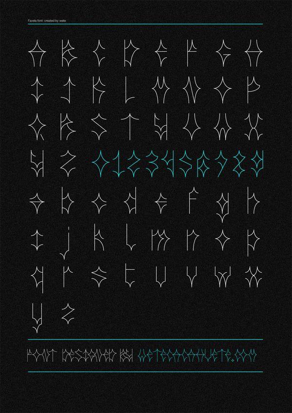 FAVELA free font by Wete , via Behance